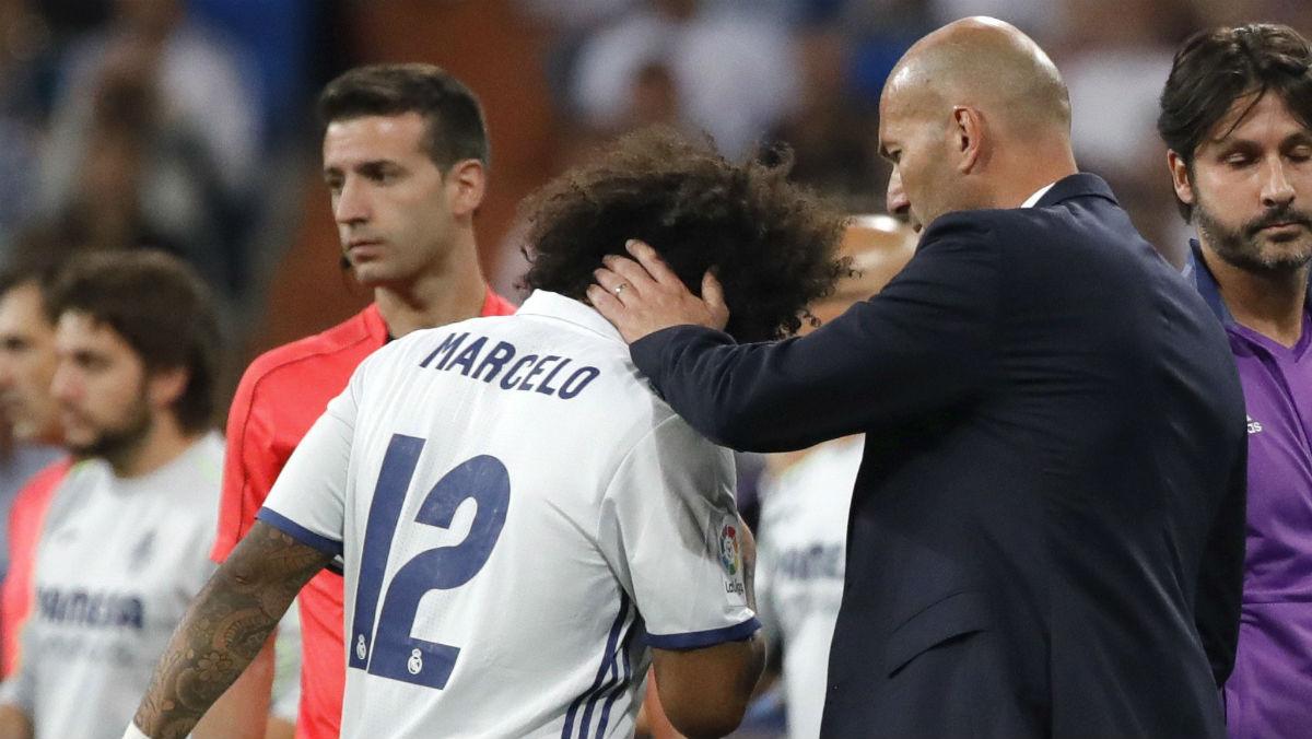 Marcelo se lesionó contra el Villarreal. (EFE)
