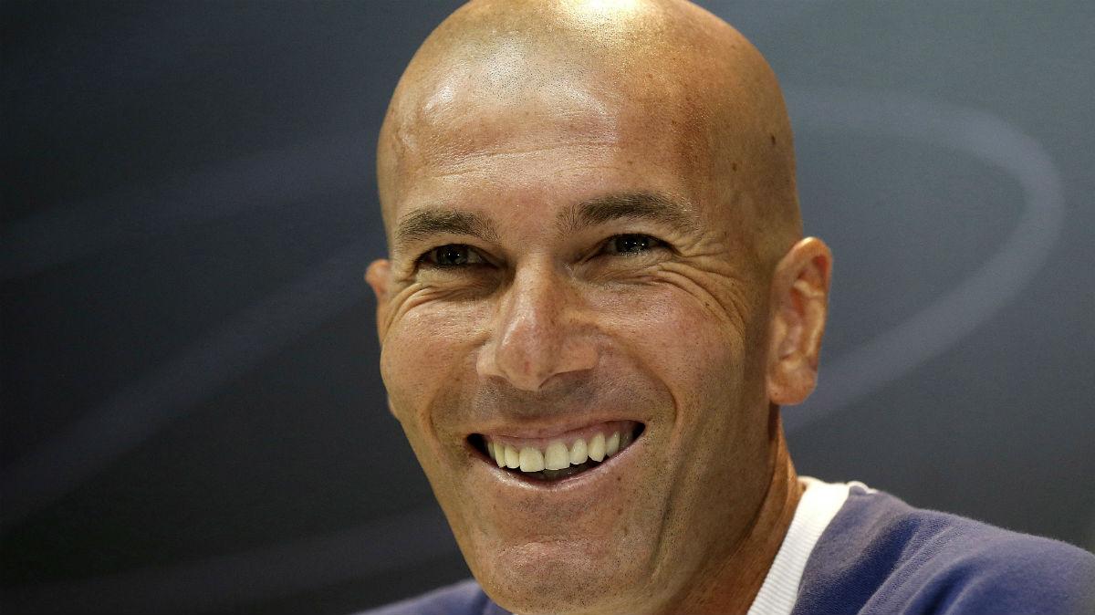 Zidane durante la rueda de prensa. (EFE)