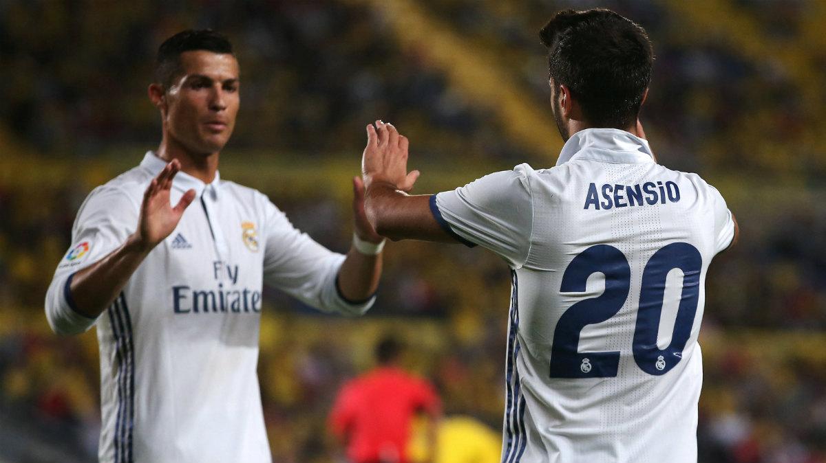 Marco Asensio celebra el 0-1 para el Real Madrid. (Reuters)