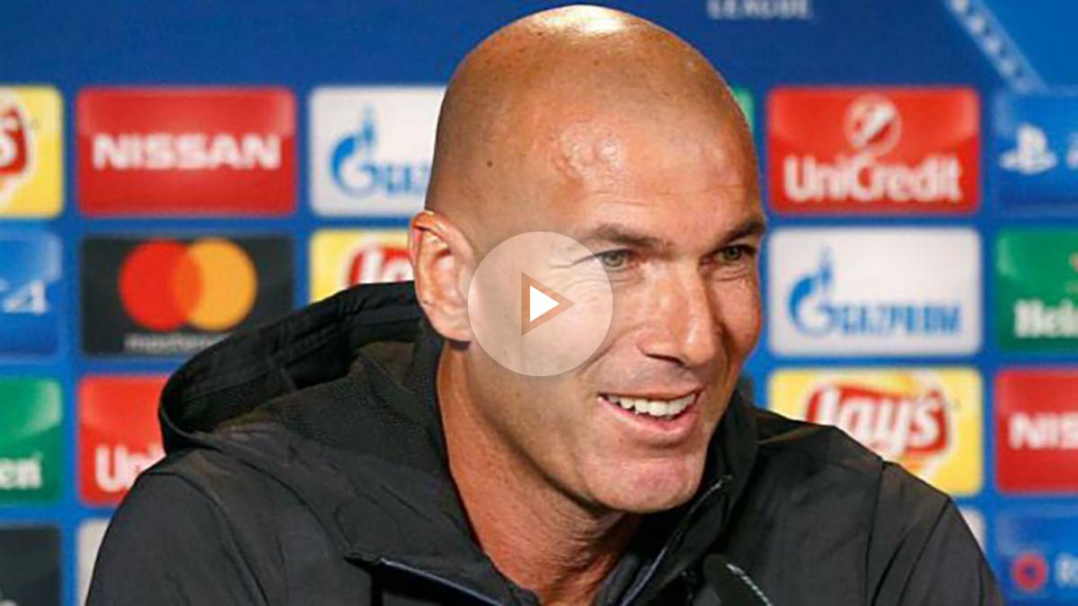 Zidane durante la rueda de prensa en Dortmund. (realmadrid.com)