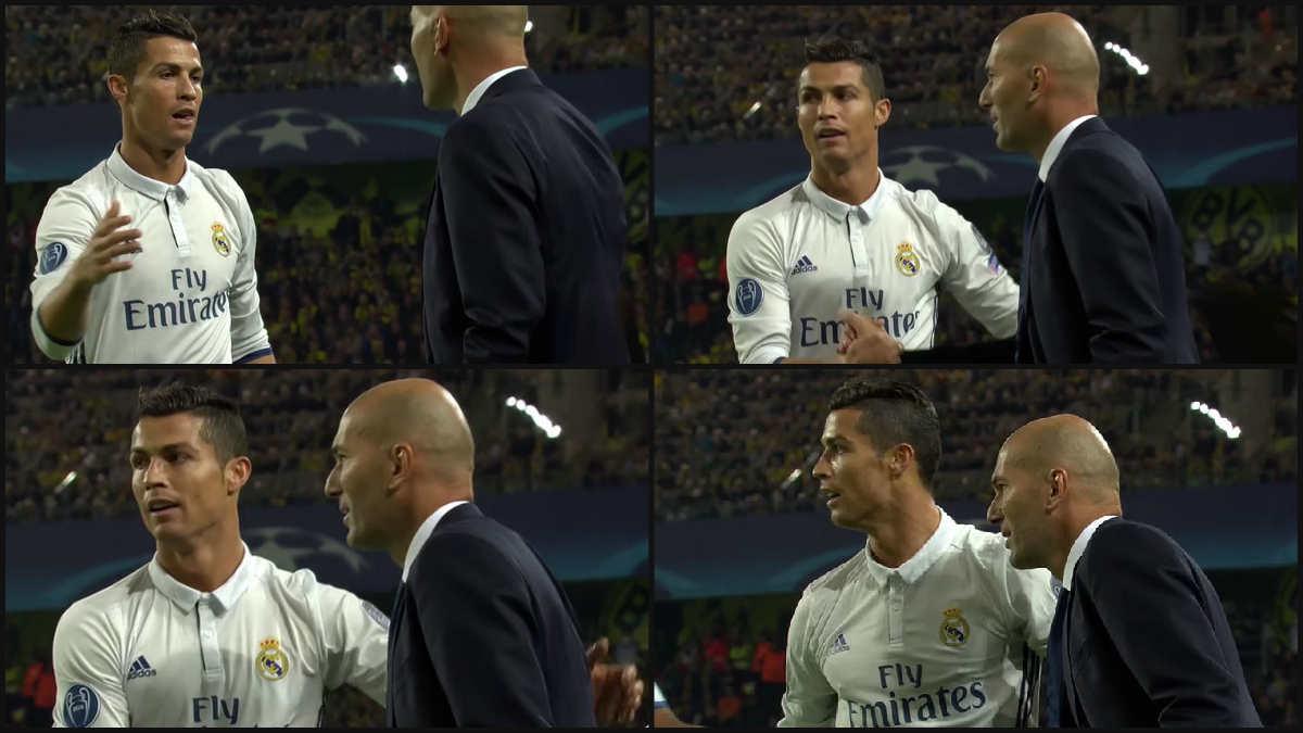Cristiano celebró el gol con Zidane.
