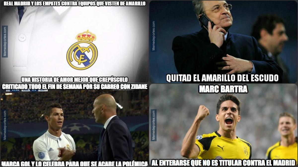 Algunos de los mejores memes del Borussia Dortmund vs Real Madrid.