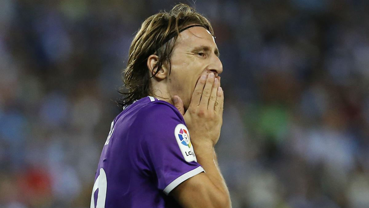 Luka Modric, en el partido contra el Espanyol. (AFP)