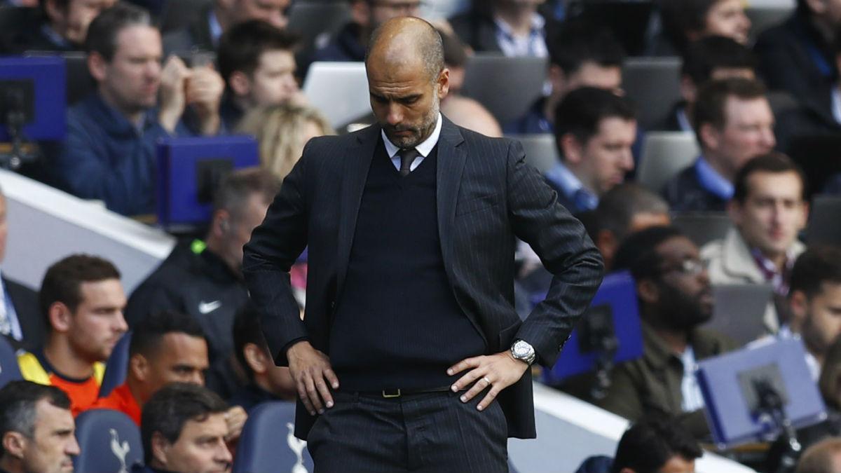 Guardiola cayó derrotado contra el Tottenham. (Reuters)