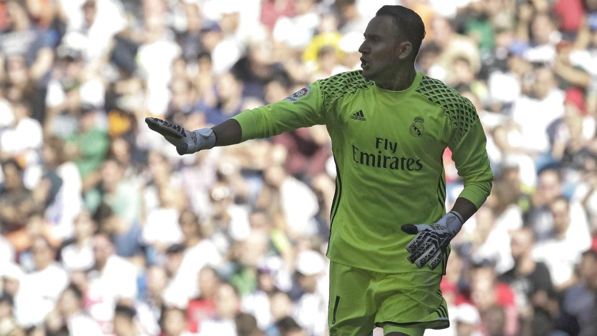 Keylor Navas durante el Real Madrid-Eibar. (EFE)