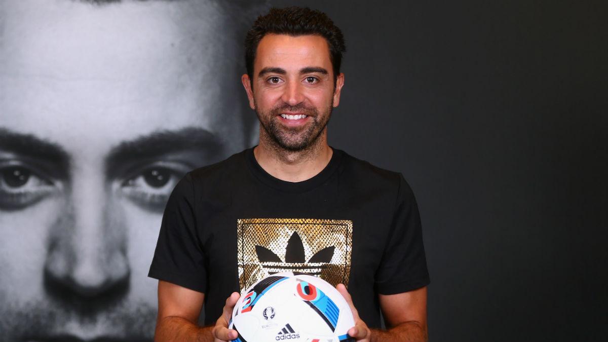 Xavi Hernández, en un acto publicitario. (Getty)