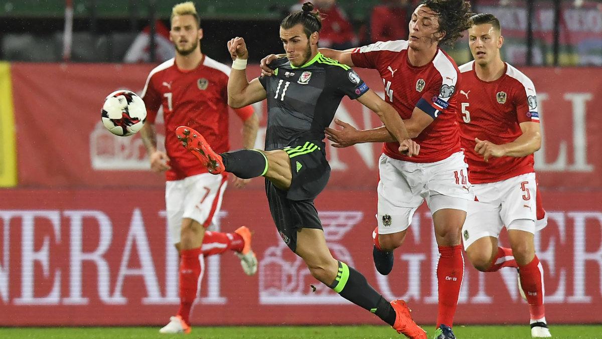 Gareth Bale disputó los 90 minutos ante Austria. (AFP)
