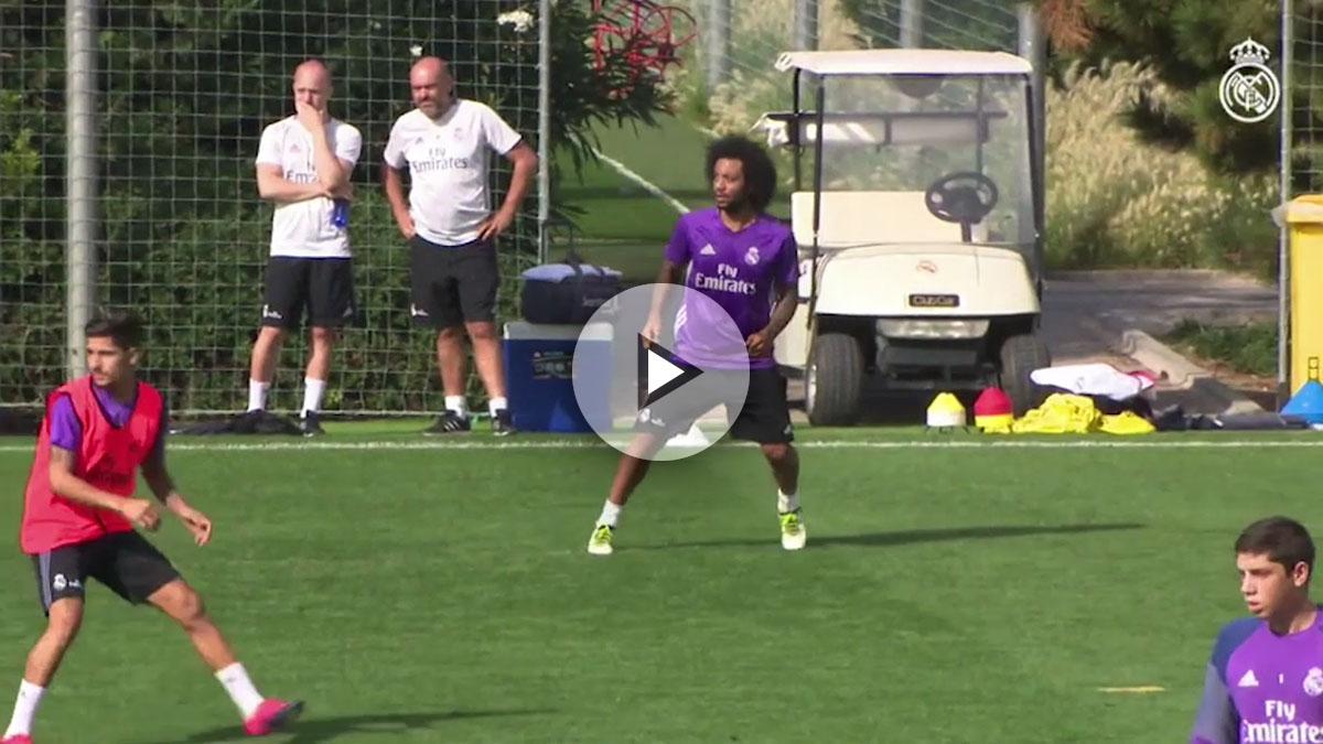 Marcelo se lució en el entrenamiento.