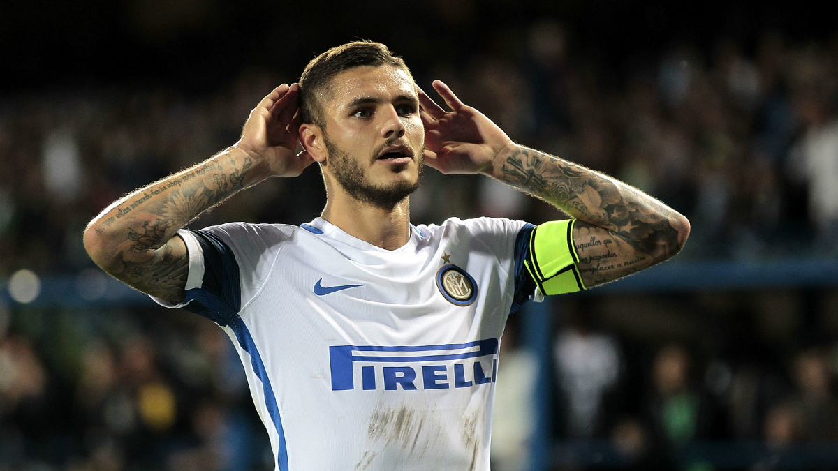 Icardi celebra un gol con el Inter. (Getty)