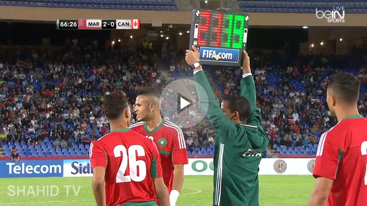 Achraf debuta con Marruecos.