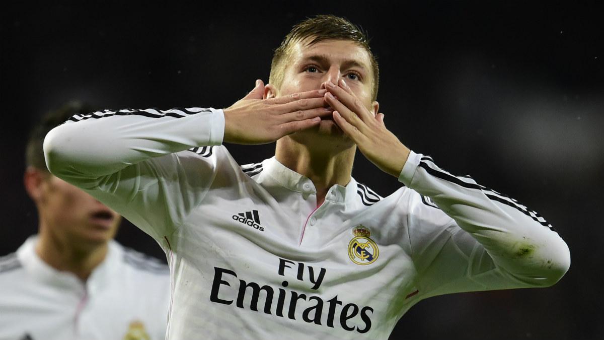 Kroos celebra un gol con el Real Madrid. (AFP)