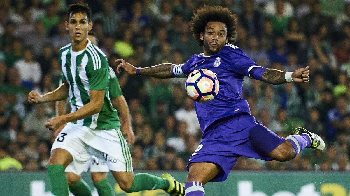 Marcelo anotó un gol ante el Betis. (Getty)