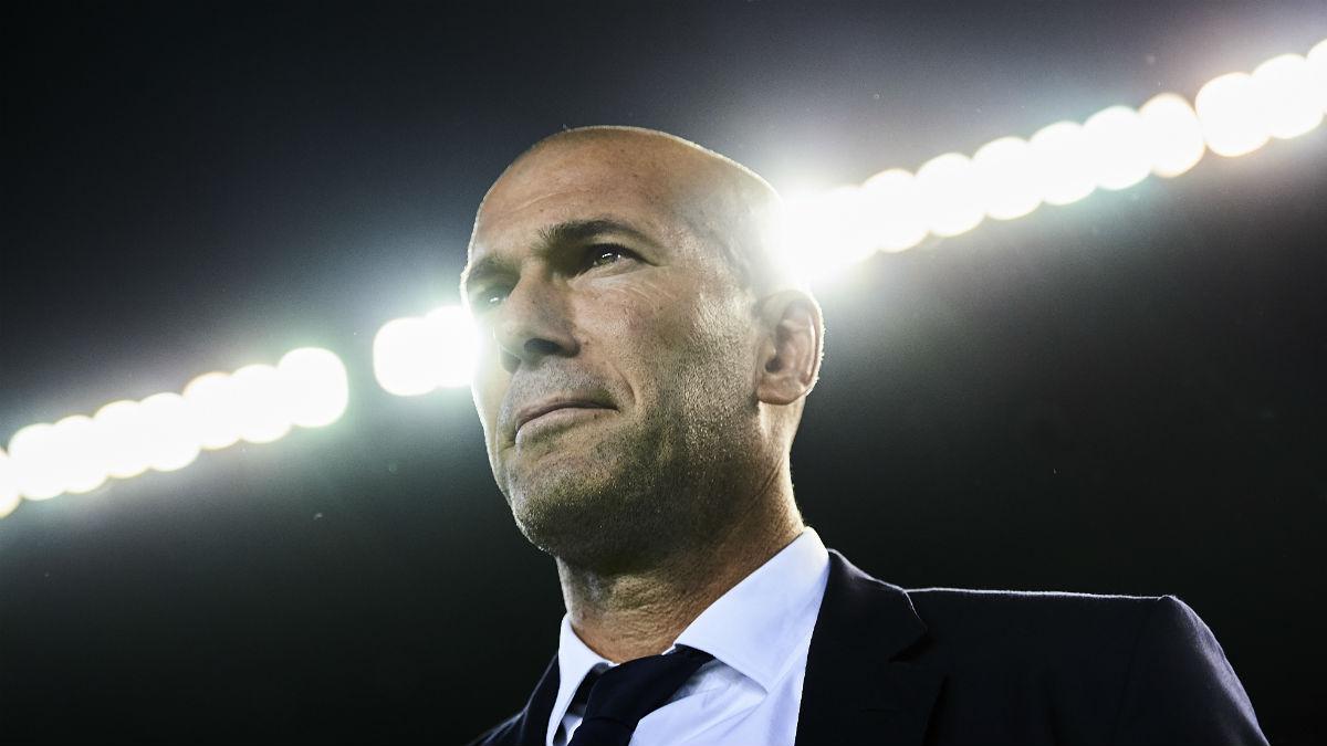 Zidane, feliz con el cambio de sus jugadores. (Getty)