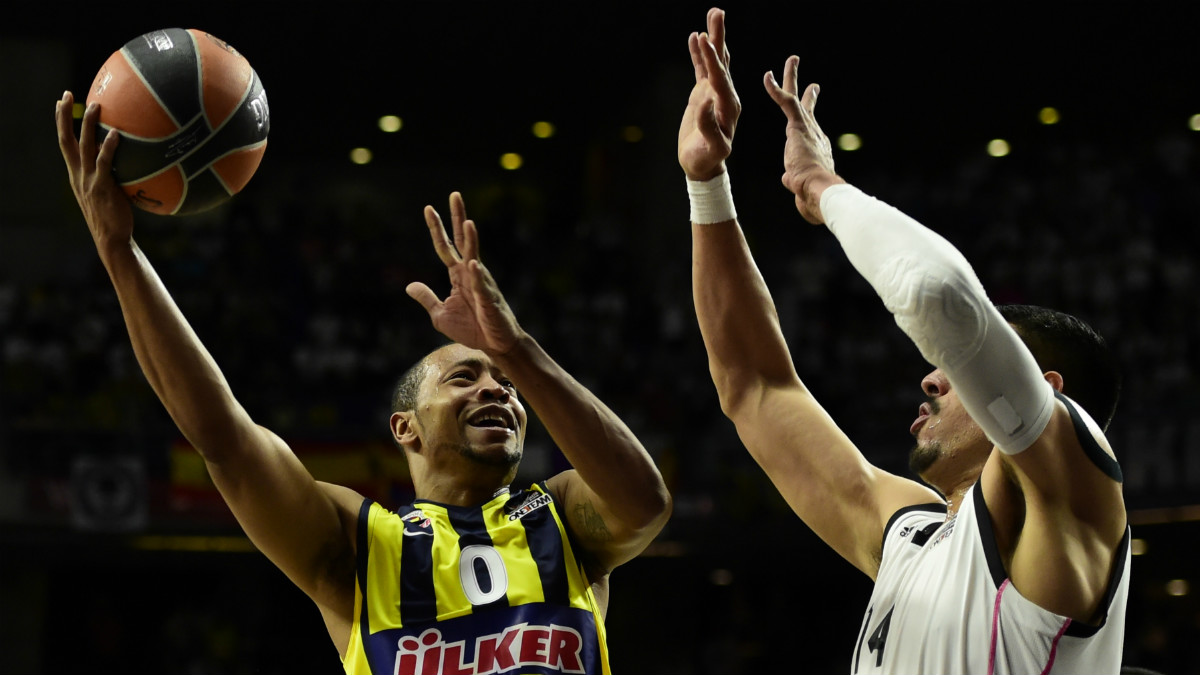 Goudelock logró 26 puntos contra el Real Madrid en su último enfrentamiento en la Final Four de 2015. (AFP)