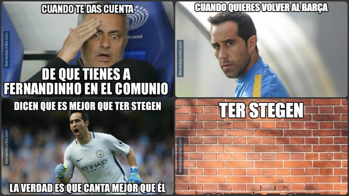 Algunos de los mejores memes del Barcelona vs Manchester City.