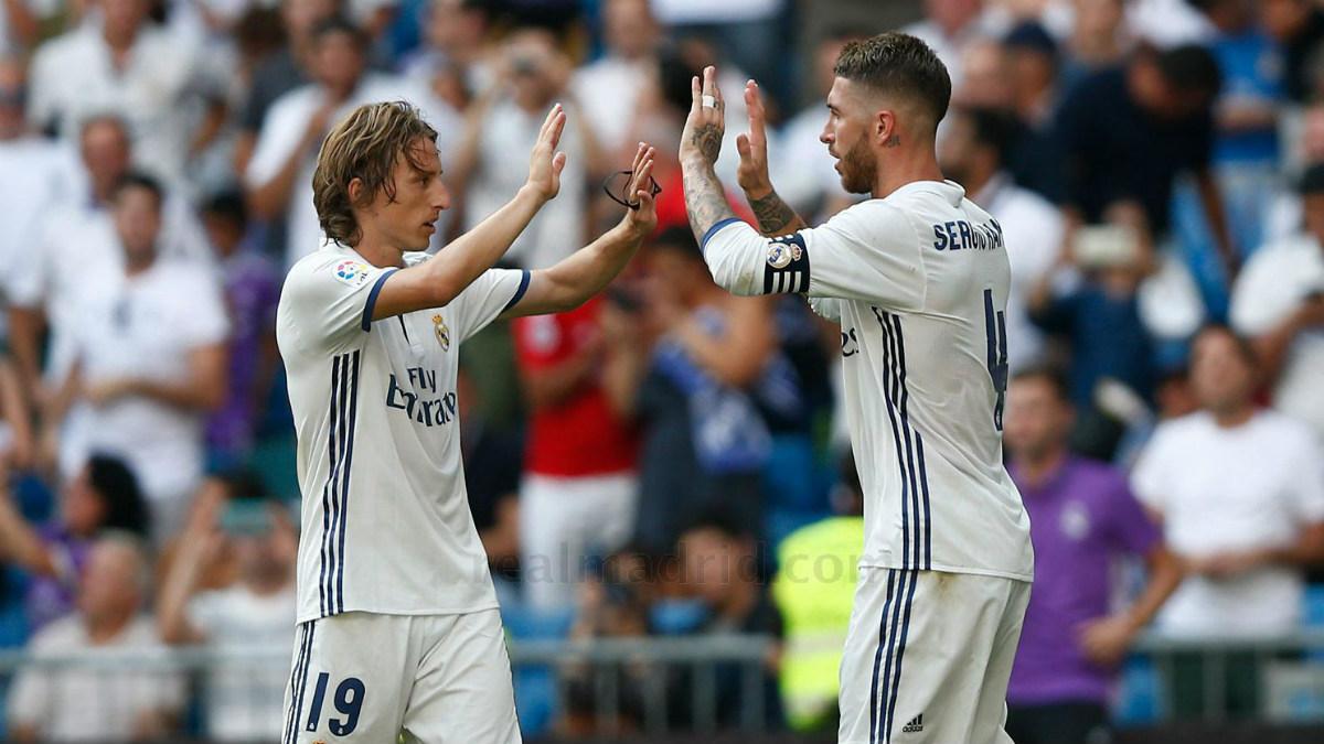 Sergio Ramos y Luka Modric. (realmadrid.com)