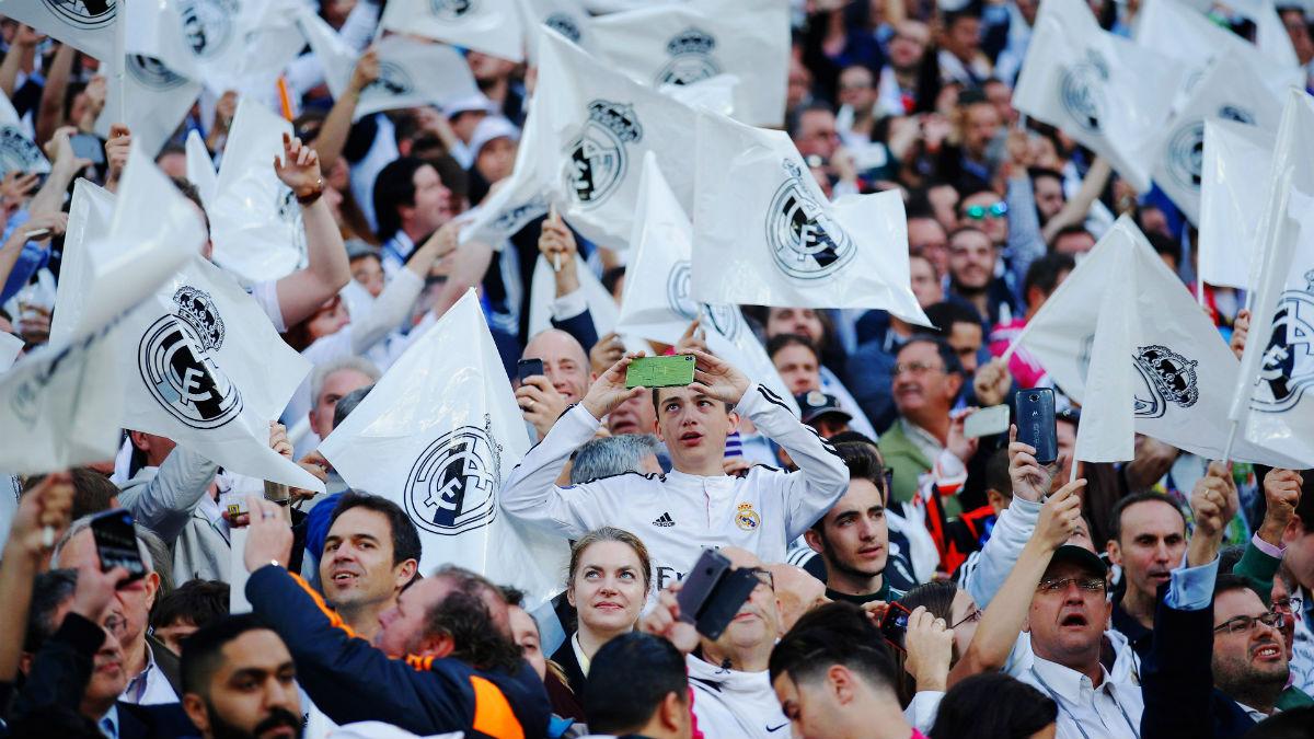 La afición del Real Madrid en el Bernabéu. (Getty)
