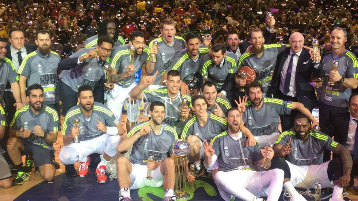 El Real Madrid de baloncesto se proclamó campeón de la Copa del Rey 2016.