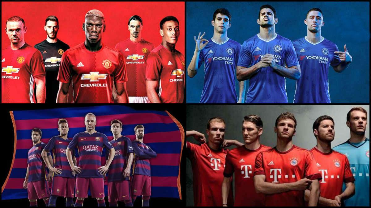 Adidas y Nike luchan por los grandes equipos de Europa.