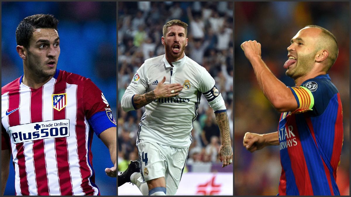 Koke, Ramos e Iniesta representan al fútbol español en el Balón de Oro.