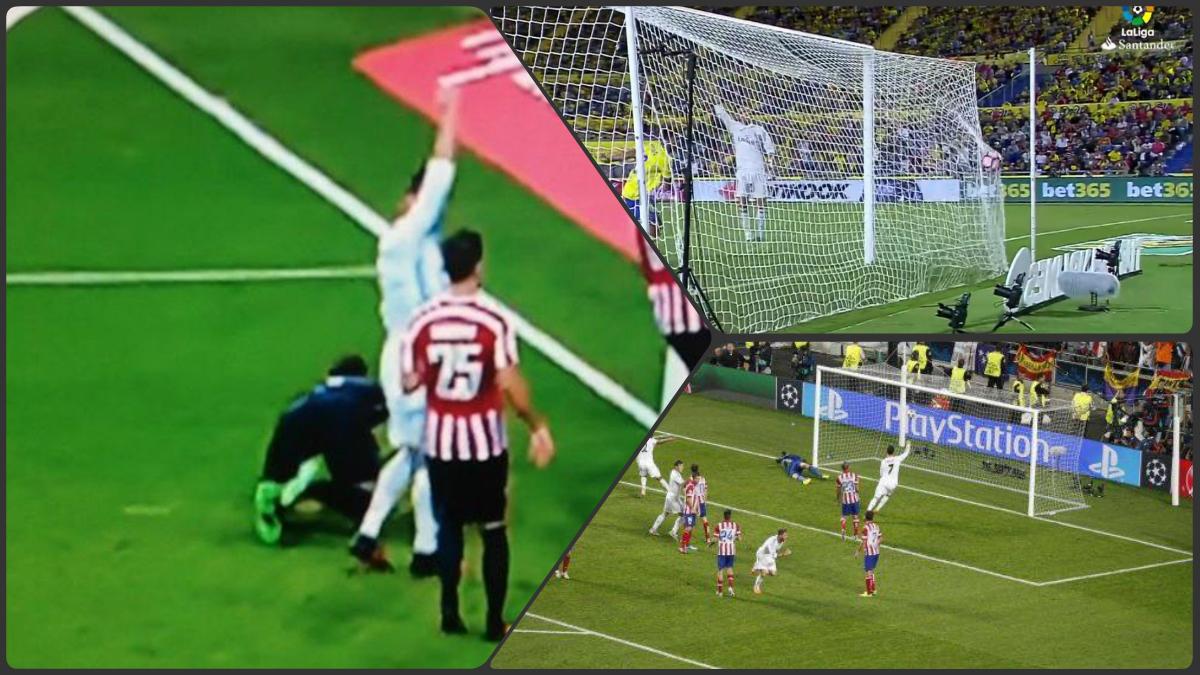 El gesto de Cristiano Ronaldo no es nuevo, es instintivo y no pide fuera de juego.