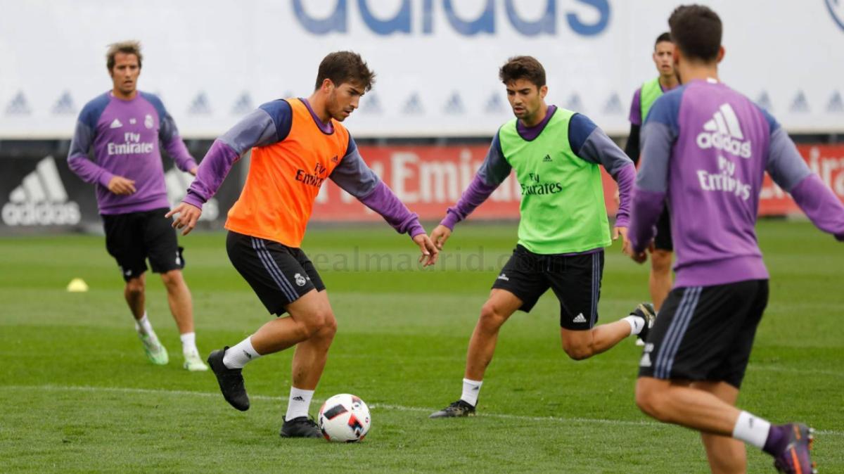 Lucas Silva se entrena con el Real Madrid. (Realmadrid.com)