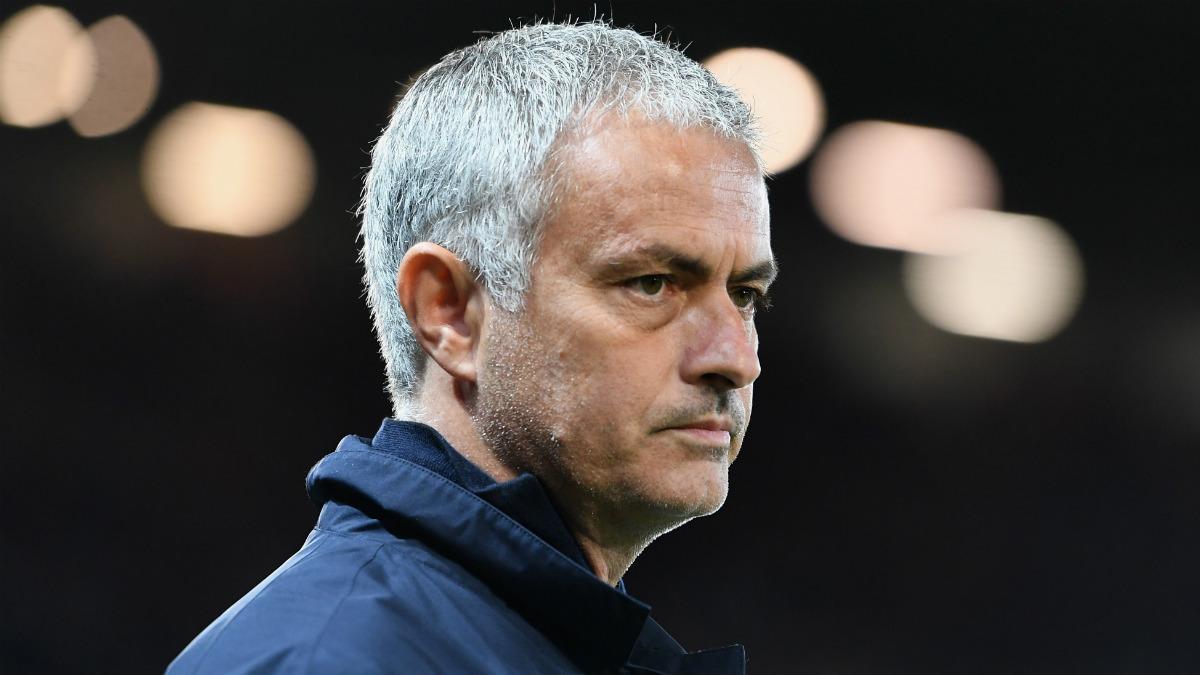José Mourinho, en un partido con el United. (Getty)