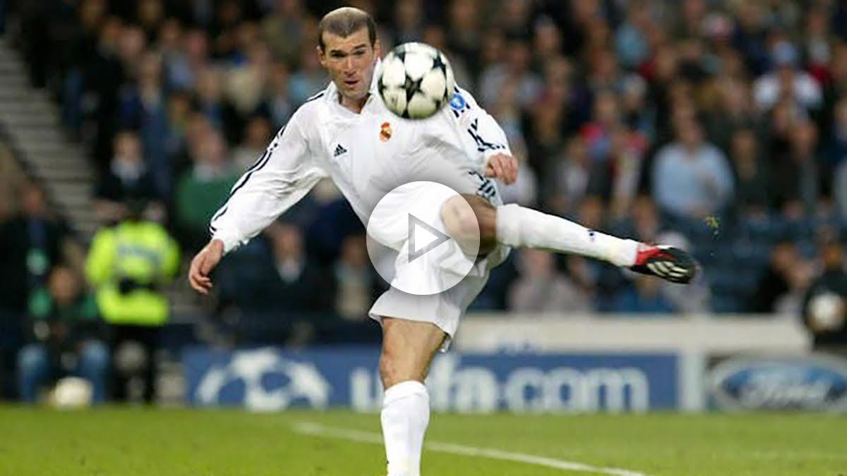 Zidane encabeza las mejores voleas de la historia.