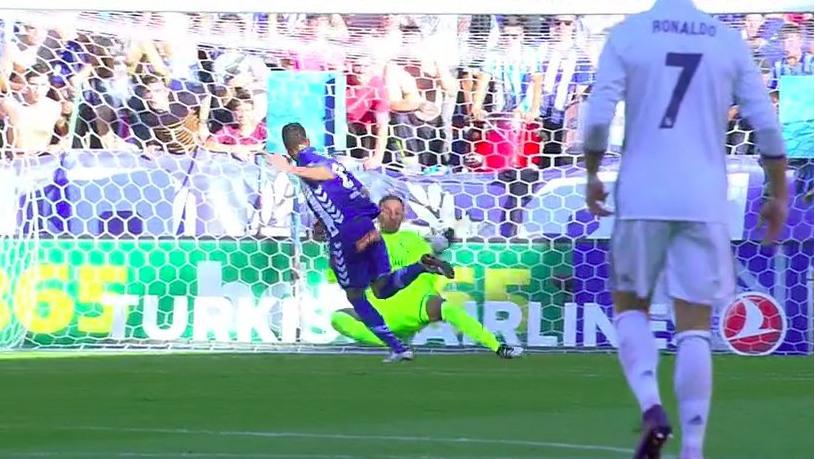 Keylor salva al Madrid ante Camarasa.