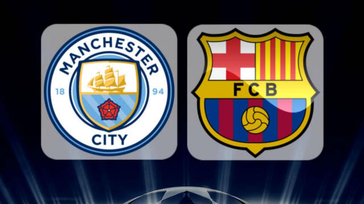 Manchester City Vs Barcelona.