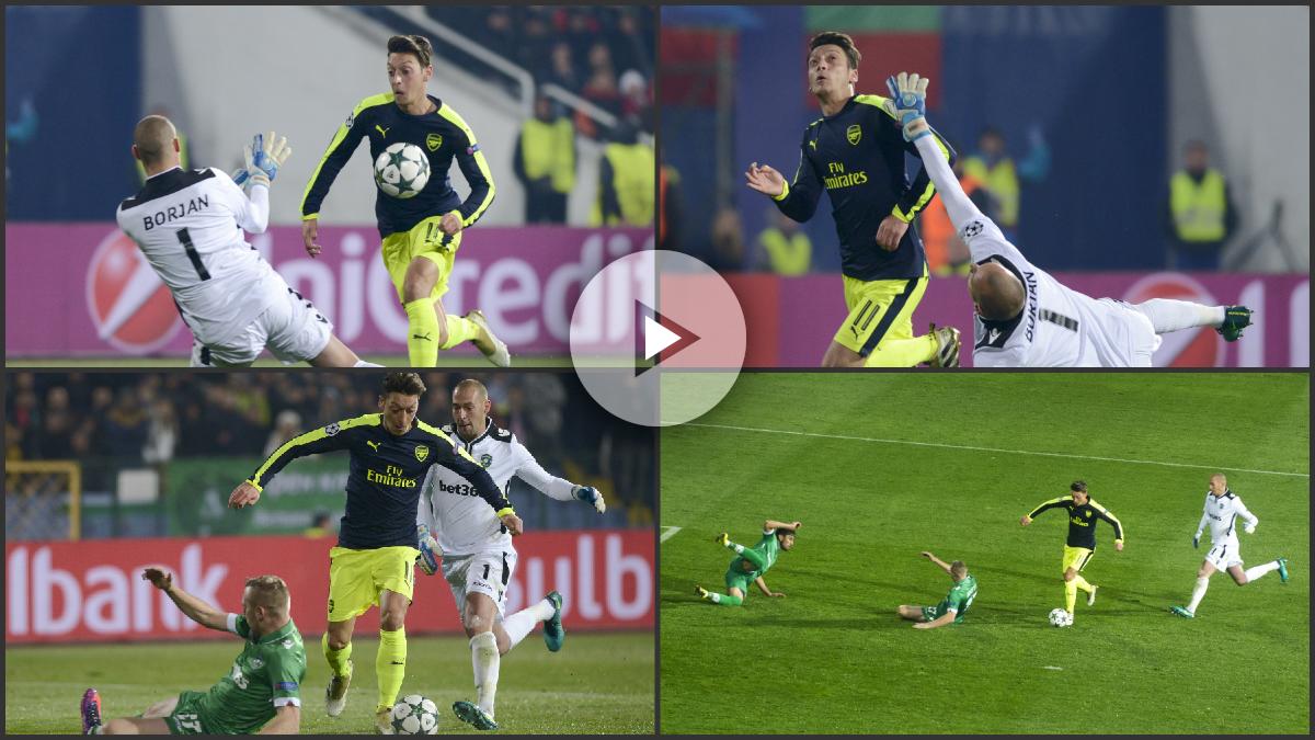 La secuencia del golazo de Özil. (AFP)