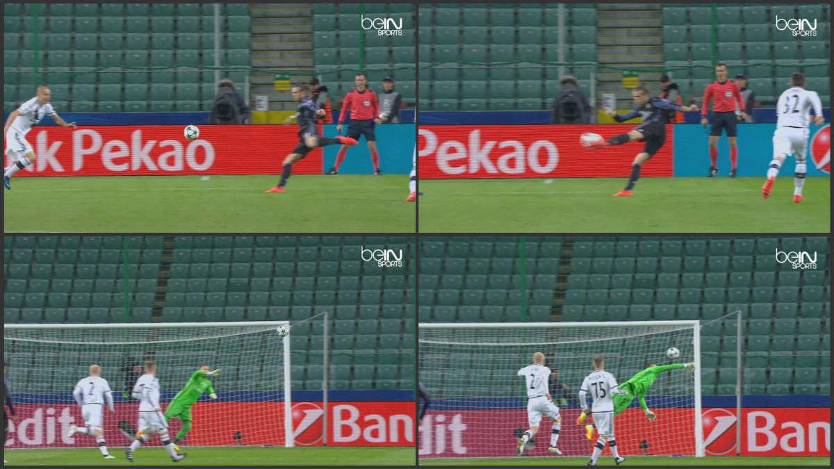 Bale marcó un auténtico golazo en el primer minuto de partido.