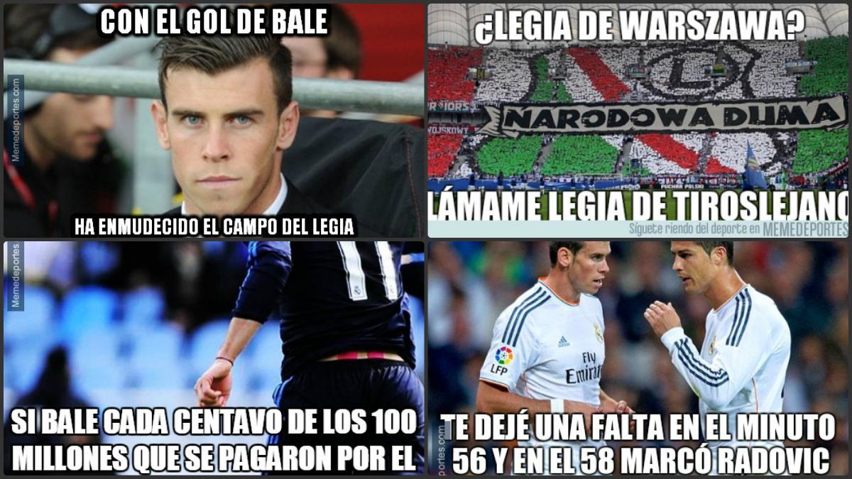 Los mejores memes del Legia Varsovia vs Real Madrid.