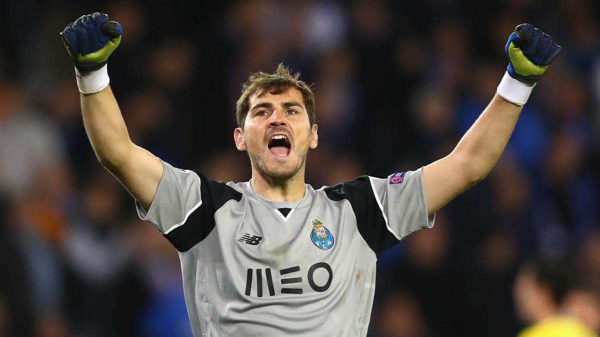 Casillas celebra el triunfo del Oporto ante el Brujas. (Getty)