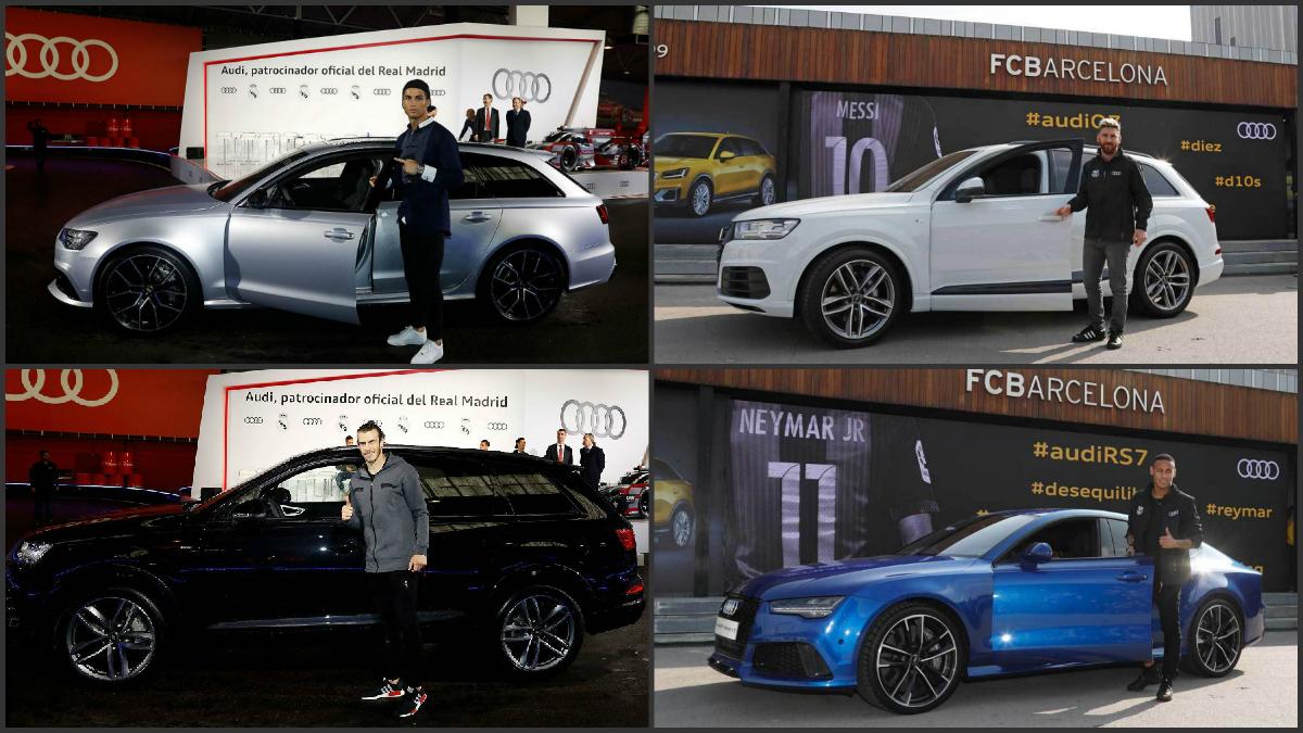 Cristiano, Bale, Messi y Neymar con sus nuevos Audi.