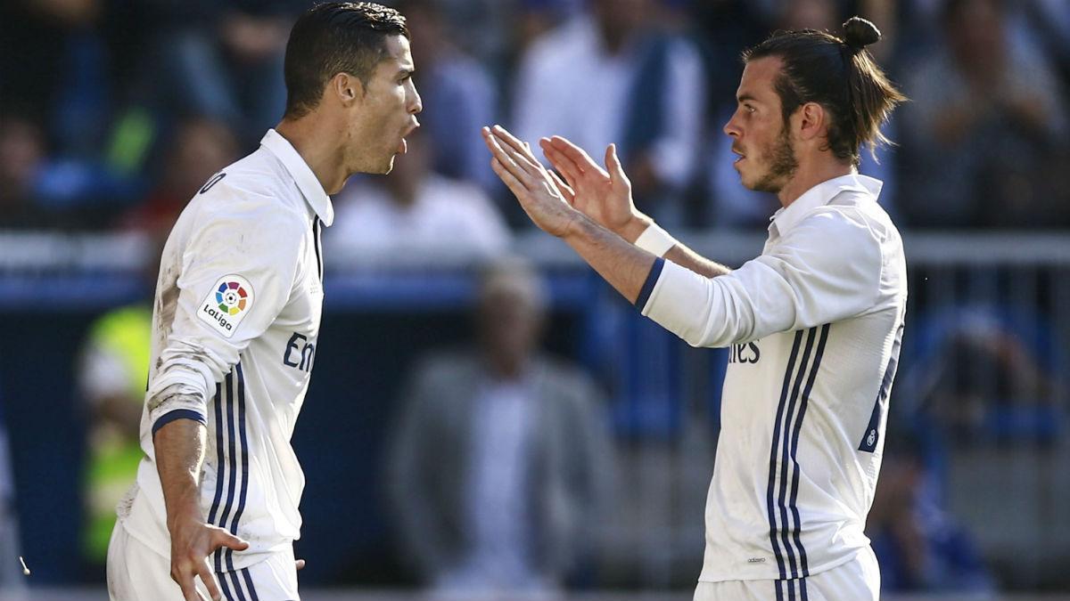 Cristiano y Bale celebran un gol. (Getty)