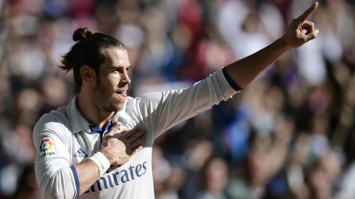 Bale celebra uno de sus goles al Leganés. (AFP)