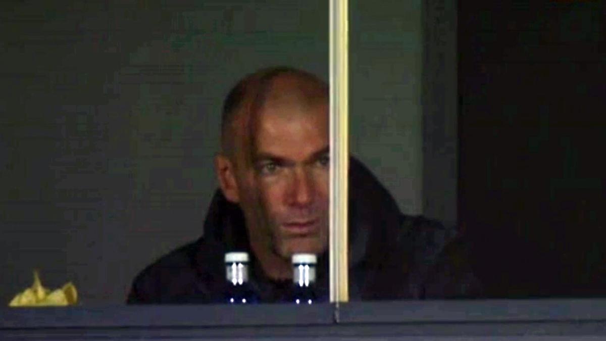 Zidane no se perdió la victoria del Castilla.