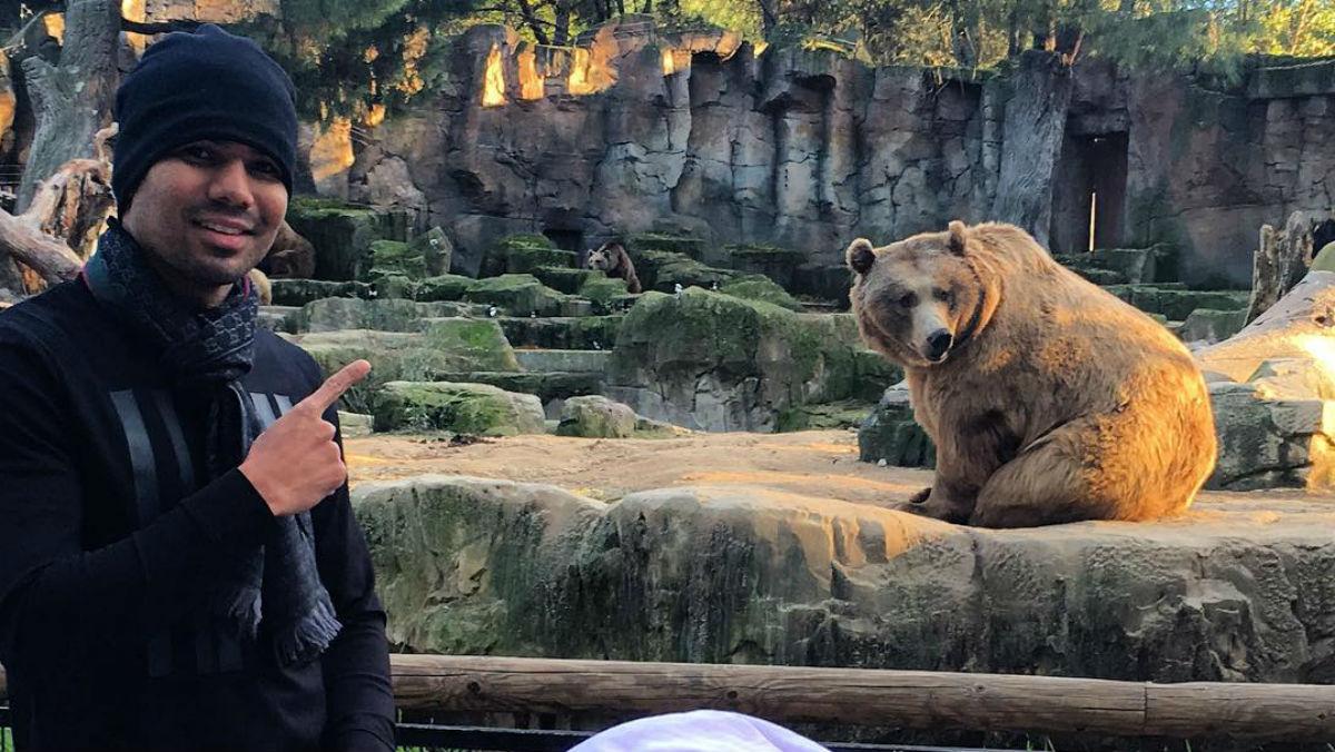 Casemiro pasó la tarde en el zoo de Madrid.