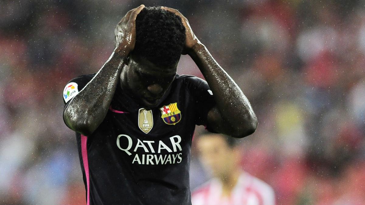 Umtiti, en el partido contra el Athletic. (AFP)