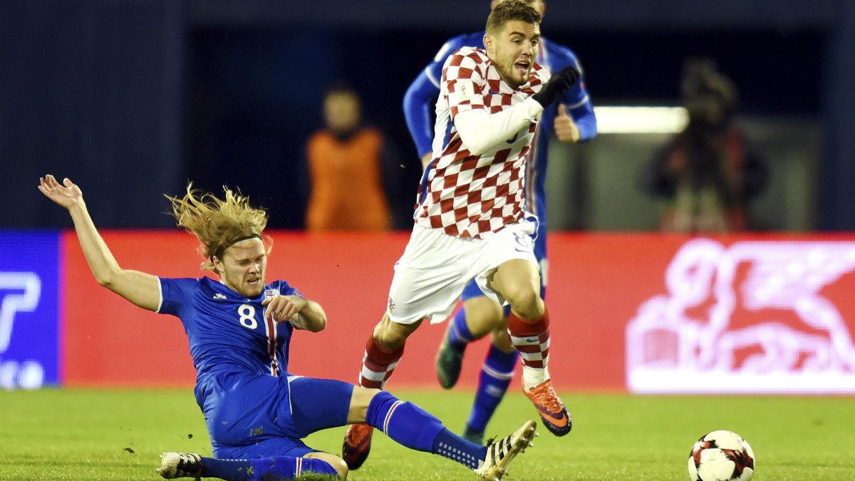 Kovacic durant el Croacia-Islandia. (AFP)