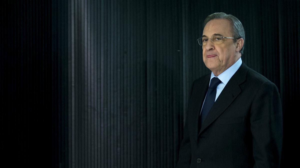 Florentino Pérez, en un acto del Real Madrid. (Getty)
