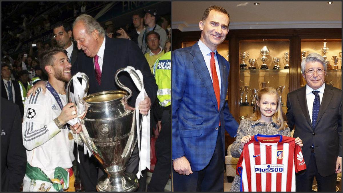 El Rey Juan Carlos y el Rey Felipe tienen gustos futbolísticos muy distintos.