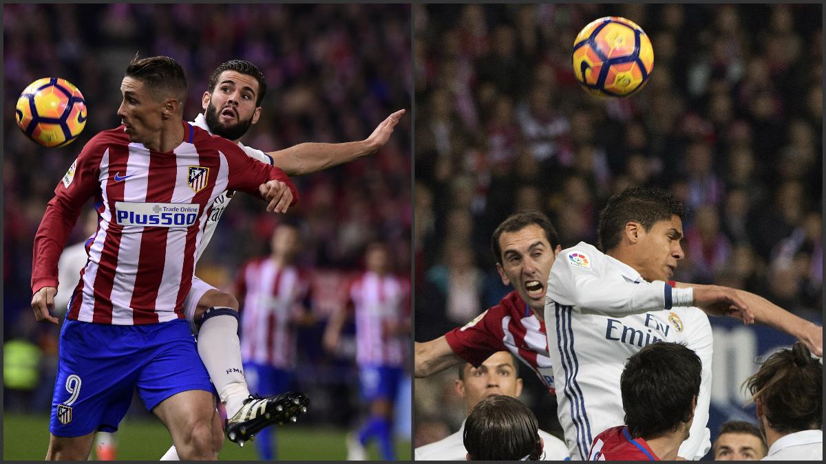 Nacho y Varane dejaron sin opciones a los delanteros del Atlético.