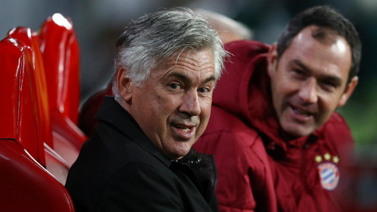 Ancelotti, en el banquillo del Bayern. (Getty)