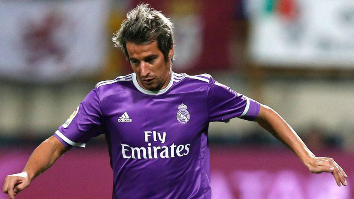 Coentrao en un partido con el Real Madrid.
