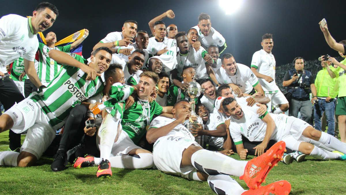 Atlético Nacional celebra la Copa Libertadores. (Getty)