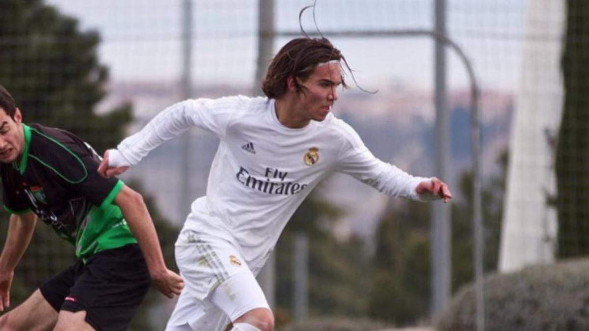 Mink Peeters en un partido con el Real Madrid. (Instagram)