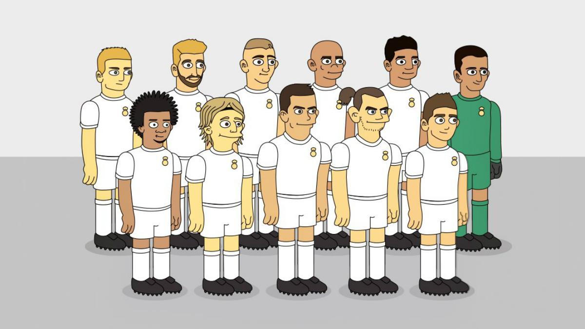 Los jugadores del Madrid se convierten en Simpsons. (Emilio Sansolini)