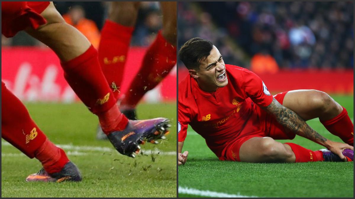 Coutinho sufre una lesión con el Liverpool.